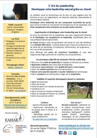 L'Art du Leadership pdf - Flyer A4